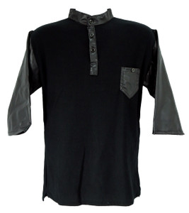Fango Clothing - Black Raglan Polo Shirt w/ Vinyl details
