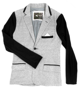 Fango Clothing - Grey Coat with  Black Sleeves
