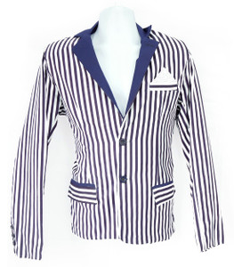 Fango Clothing - Stripped Blue Coat