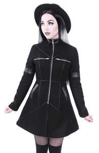Restyle Clothing -  Geometry Coat with  Removable Hood