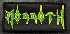 "Morgoth Logo Green and Yellow 7x2.5"" Embroidered Patch"