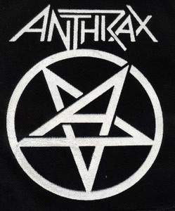 "Anthrax - Pentagram 4x6"" Printed Patch"