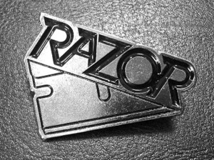 "Razor - Logo 2.5"" Metal Badge Pin"
