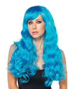 Blue Starbright Long Wavy Wig