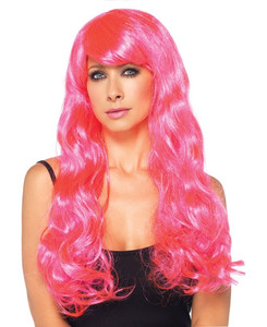 Pink Starbright Long Wavy Wig