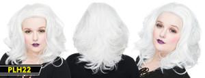 White Shoulder Long Wig
