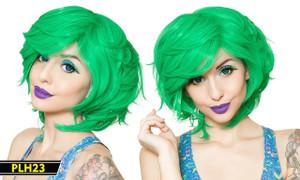 Green Short Wig