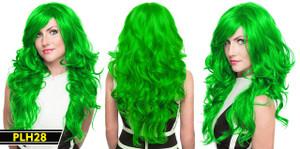 Green Long Wavy Wig