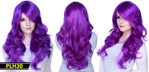 Purple Long Wavy Wig