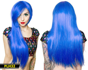 Light Blue Long Wig