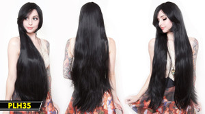 Black Extra Long Wig
