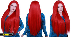 Neon Red Long Wig