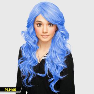 Baby Blue Long Wavy Wig
