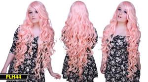 Pink Long Wavy Wig
