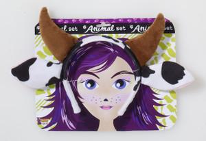 Kid's Cow Plush Horns