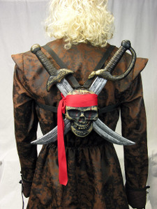 Jolly Roger Shield and Swords