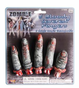 Zombie Plastic Finger Set