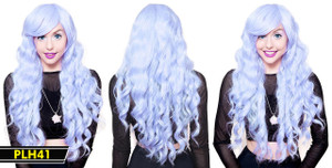 Lilac Long and Wavy Wig