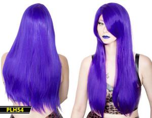 Purple Long Straight Wig