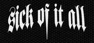 "Sick of It All Logo 6x2.5"" Printed Patch"