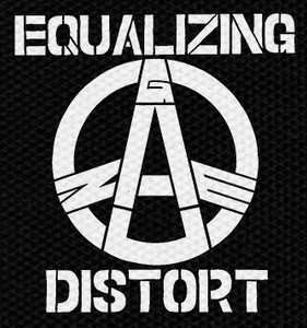 "Equalizing Distort Logo 4x4"" Printed Patch"