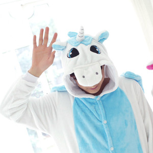 Adult Size Blue Unicorn Kigurumi Onesie