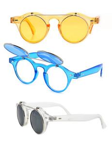 John Lennon Metal Round Flip Sunglasses