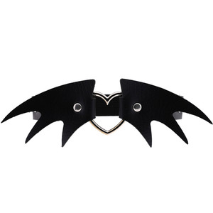 Bat Wings and Heart Garter Belt