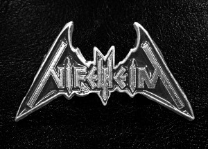 "Nifelheim Bat Logo 2"" Metal Badge"