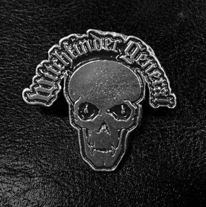 "Witchfinder General Skull Logo 3"" Metal Badge"