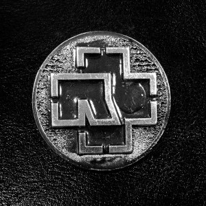 "Rammstein Cross Logo 2"" Metal Badge"