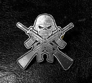 "Iron Maiden Eddie Soldier 3"" Metal Badge"