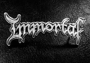 "Immortal New Logo 2"" Metal Badge"