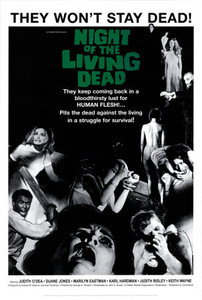 """Night of the Living Dead - They Wont Stay 24"""" x 36"""" Poster"""