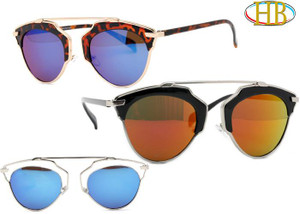 Futuristic Aviator Style Metal Sunglasses
