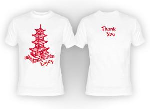 Chinese Food Box Print T-Shirt