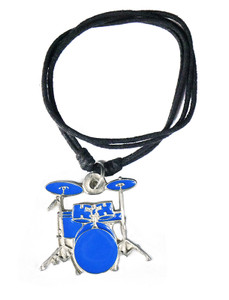 Blue Drum Set Necklace