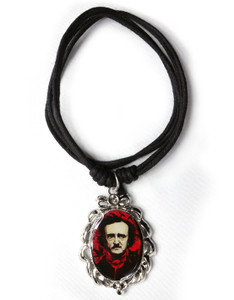 Colored Edgar Allan Poe Necklace
