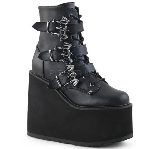 Platform Boots with  Bat Buckles