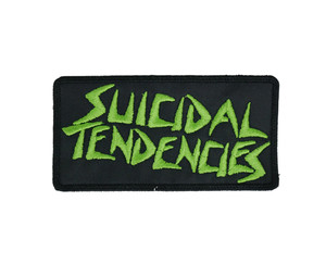 "Suicidal Tendencies - Green Letters Logo 4x2"" Embroidered Patch"