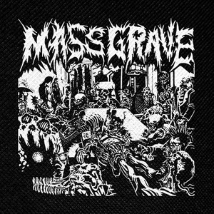 "Mass Grave - People Are The Problem 5x5"" Printed Patch"