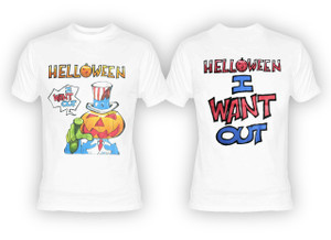 Helloween - I Want Out  White T-Shirt