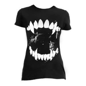 Wolf Fangs Creepy Blouse T-Shirt