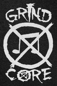 Grindcore Logo Backpatch 12x18""