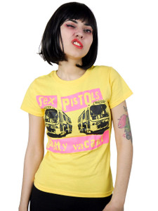 Sex Pistols - Pretty Vacant Yellow Blouse T-Shirt