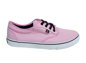 Canvas Pink & White Sneakers