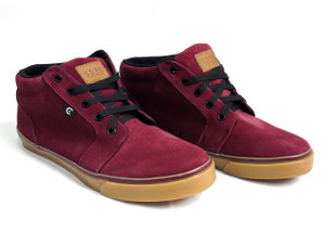 Canvas Burgundy & Gum Smith High Sneakers
