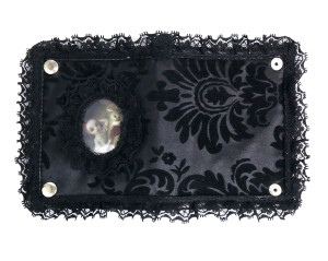Dr. Frankenstein - Black Lace Girl and Bunny Bi-Fold Wallet