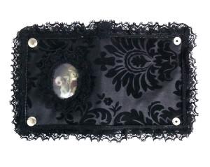 Dr. Frankenstein - Black Lace Girl and Bunny Bi-Fold Wallet