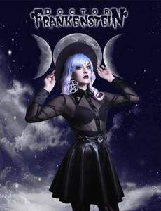 Dr. Frankenstein - Gothic Moon Net Blouse